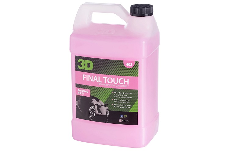 3D Final Touch Waterless Car Wash with Wax Protection