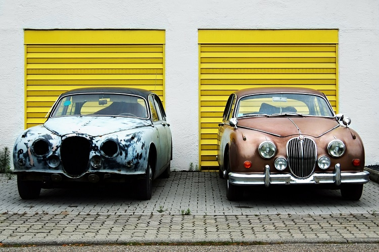 Rusty vs Refurbished Car