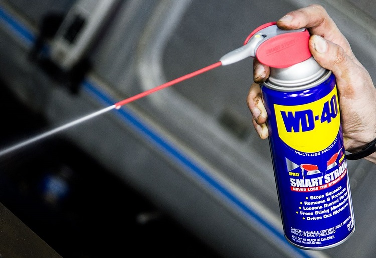 Holding WD 40