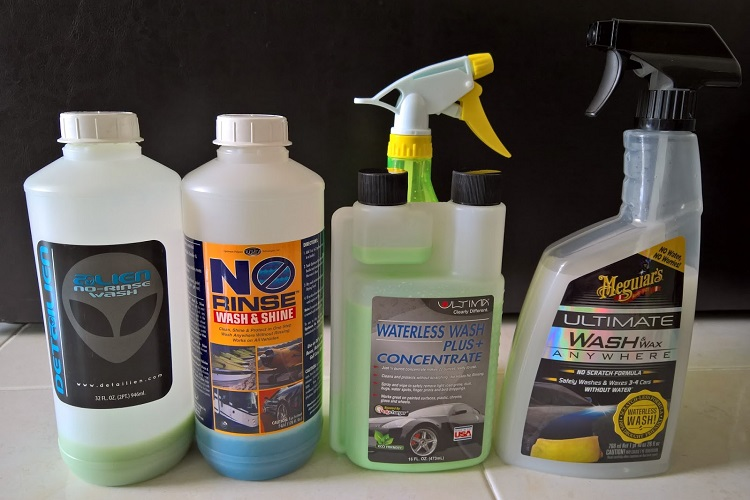 Different Waterless Wash Products