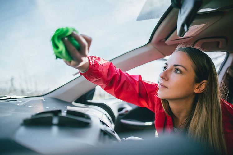 Cleaning Windshield From Inside