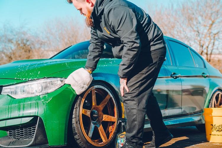 Washing Wrapped Car